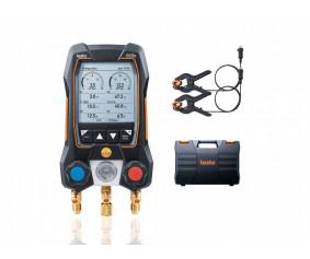 testo 550s Комплект 1 - Умный цифровой манометрический коллектор и зонды-зажимы температуры с фиксированным кабелем