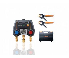 testo550i Комплект 1 с кейсом - Цифровой манометрический коллектор, управляемый через приложение, с беспроводными зондами-зажимами для труб (NTC)