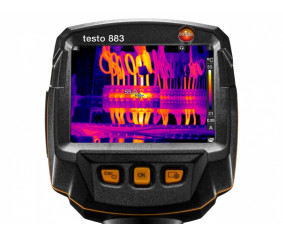 testo 883 - Тепловизор (320 x 240 пикселей, ручная фокусировка, мобильное приложение, лазерный маркер)