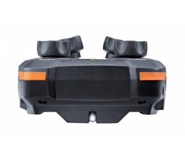 testo557s Комплект 2 с заправочными шлангами - Умный цифровой манометрический коллектор, смарт-зонды вакуума и температуры и набор из четырёх заправочных шлангов