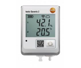 testo Saveris 2-H2 - WiFi-логгер данных с дисплеем и подключаемым внешним зондом температуры/влажности